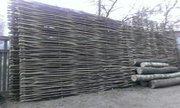 Декоративный забор из лозы