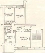 3-комнатная квартира продажа или обмен на 1-комнатную